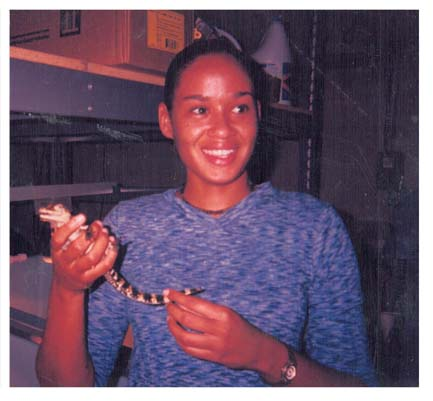 Shenell With Crocodile
